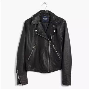 Madewell Washed Leather Motorcycle Jacket XS